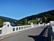 在河易北河的捷克水坝 免版税库存照片