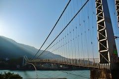 在河甘加的桥梁 库存图片