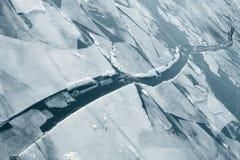 在河的冰 免版税库存图片
