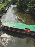 在河的出租汽车小船在曼谷,泰国 免版税库存图片