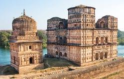 在河的历史印地安站点 库存照片