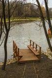在河的木码头 免版税图库摄影