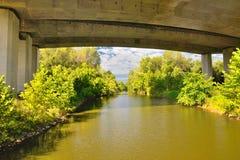 在河的桥梁 图库摄影