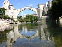 在河的桥梁neretva 免版税库存照片