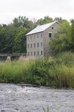 在河的磨房 免版税库存图片