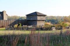 在河的老堡垒 免版税库存图片