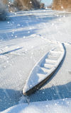 在河的降雪 免版税库存图片