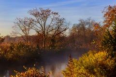 在河的10月早晨 免版税图库摄影