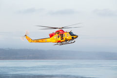 在河的主要研究操作与搜救队 免版税图库摄影