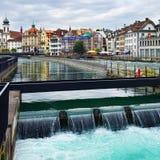 在河罗伊斯统治者列表,卢赛恩,瑞士的门户 库存图片