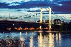 在河莱茵河的桥梁 免版税库存照片