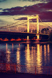 在河莱茵河的桥梁 库存图片