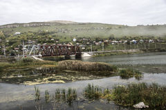 在河西姆的铁路桥 库存图片