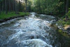 在河阈值城镇附近的芬兰kotka 免版税库存图片