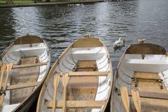 在河,在Avon的斯特拉福的划艇 免版税库存图片