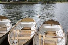 在河,在Avon,英国的斯特拉福的划艇 免版税图库摄影