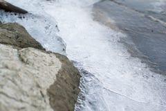 冻水在河 免版税库存图片
