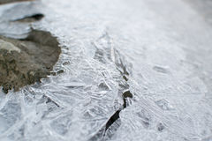 冻水在河 免版税库存照片