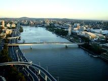 在河Brisban澳大利亚的看法 免版税库存图片