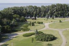 在河Dnieper的海岸 免版税库存照片