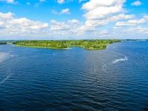 在河Dnieper的看法 库存照片