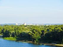 在河Dnieper的看法 免版税库存图片