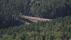 在河Katun的新的桥梁Aysky。阿尔泰边疆区。 股票视频