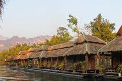 在河Kwai的小屋 免版税库存图片