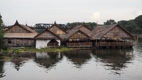 在河Kwai的木筏 库存照片