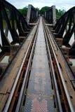 在河Kwai的桥梁。北碧,泰国 库存照片