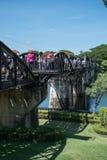 在河Kwai的桥梁的铁路 免版税库存照片