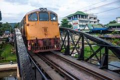 在河Kwai的桥梁 免版税图库摄影