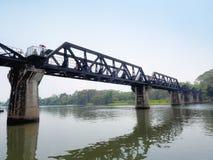 在河Kwai的死亡铁路桥梁 免版税库存图片