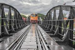 在河Kwai,泰国的桥梁 免版税图库摄影