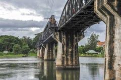 在河Kwai,泰国的桥梁 免版税库存图片
