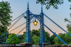 在河Leam的桥梁 免版税库存图片