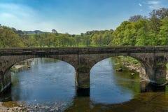 在河Lune的一座桥梁在兰卡斯特附近 免版税库存照片