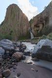 在河Malka的瀑布 免版税库存照片