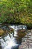 在河Neath的小瀑布 免版税库存照片
