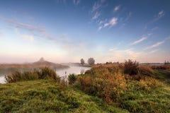 在河Neman的9月 图库摄影
