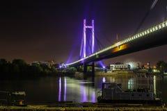 在河sava的桥梁 库存照片