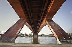 在河Sava的Gazela桥梁在贝尔格莱德 图库摄影