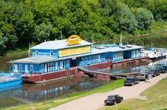在河Trubezh和码头的看法在梁赞 免版税图库摄影