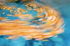 绘画在河Urederra 免版税库存照片