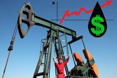 在油和煤气产业的赢利增量作为概念 库存照片
