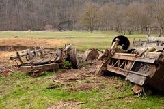 在沼地的推车 免版税库存图片