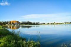 在沼泽附近的风景 免版税图库摄影