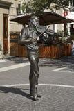 在沿海岸区的雕塑在巴库 阿塞拜疆 图库摄影