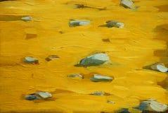 在沿海的金黄海滩沙子,绘 向量例证