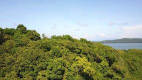 在沿海路旁边的山有后边Khung Kraben海湾的 影视素材
